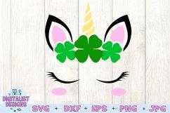 unicorn face svg, unicorn svg, st patricks svg, unicorn head Product Image 2