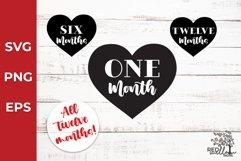 Baby Monthly Milestone SVG Bundle, Baby SVG Product Image 1