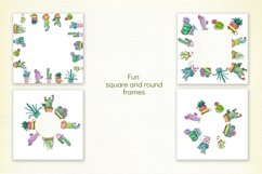 Watercolor Cute Potted Cacti Set Product Image 4