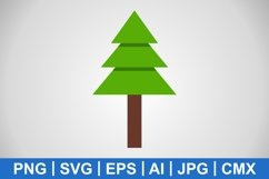 Vector Pine Tree Icon Product Image 1
