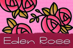 Eden Rose a Hand Lettered Font with Doodles Product Image 3