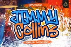 Jimmy Collins - Monoline Tagging Font Product Image 1