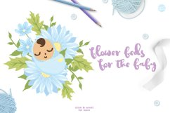 Blue Flower Baby Shower with Invitation Templates Product Image 4