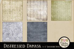 Damask Paper Backgrounds - Grunge Texture Digital Papers Product Image 2