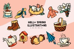 Hello Spring Illustrations Product Image 1