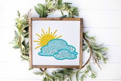 3d SVG Layered Sun and Clouds | Sunshine SVG Product Image 3