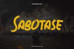 Sabotase - The Brush Font Product Image 1