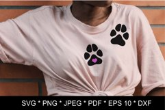 Dog paw SVG. Paw print SVG. Paw print love Product Image 6