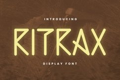 RITRAX Font Product Image 1