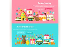 Happy Easter Website Banners Product Image 3