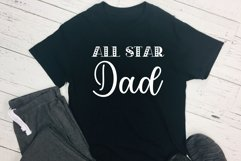 All Star Dad Cut File - SVG & PNG Product Image 1