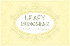 Leafy Monogram Font & Alphabet Product Image 4