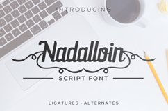 Nadalloin font Product Image 1