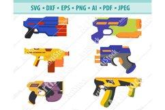 Toy Gun SVG File, Nerf gun Svg, Water Gun Svg, Dxf, Png, Eps Product Image 1