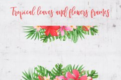 Tropical leaves and flowers clipart Product Image 6