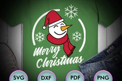 Merry Christmas SVG, Snowman SVG, Winter SVG, Carrots Product Image 1