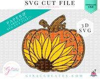 Layered Pumpkin Sunflower Mandala SVG Cut File Product Image 2