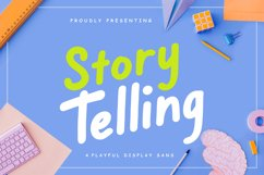 Story Telling Fun Font Product Image 1