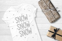 SNOWLAND - hand drawn winter font Product Image 6