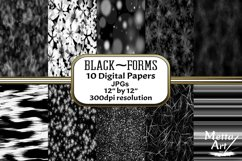 Black Forms - 10 Digital Papers/Backgrounds Product Image 1