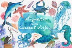 Watercolor Aquatic and Coastal Set Product Image 1