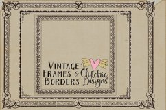 Vintage Frames and Borders plus Photoshop Brushes Product Image 4