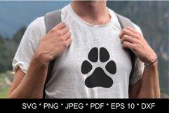 Dog paw SVG. Paw print SVG. Paw print love Product Image 2