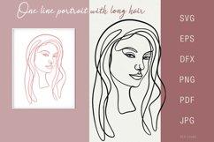 One line portrait illustration SVG PNG Face 9 Product Image 1