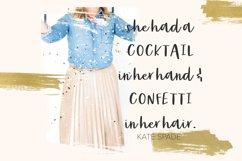 Party Dress Cursive Font Product Image 5