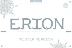 4in1 ERION FONT - Christmas Winter Version Product Image 1