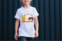 Peace Love Games Sublimation Design for T-shirts Gaming Tee Product Image 5