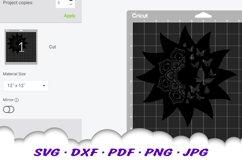 Mandala Butterfly Sun Celestial SVG DXF Cut Files Product Image 2