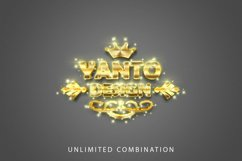 3D Gold Text Effect Product Image 4