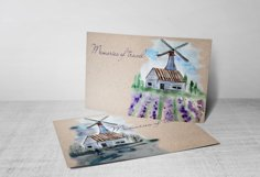 Watercolor Windmill Clipart Product Image 3