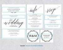 Wedding invitation set portrait, TOS_35 Product Image 3