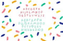 TABIR - font based on kid handwriting plus seamless pattern Product Image 2