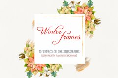 Watercolor Winter frames. Christmas cliparts Product Image 1