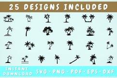 Palm Tree SVG Bundle - 25 Designs, Palm Tree Silhouette Product Image 1
