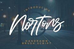 Web Font Nortons - Handrawn Brush Script Font Product Image 1