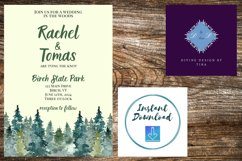 Watercolor Wooded Forest Wedding Invitation Product Image 4