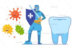 Medical knight fights viruses Product Image 2