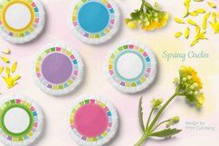 Spring Circle Frames Clipart Set of 24 PNG files Product Image 2
