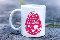 Happy Easter SVG. Easter Papercut Template.Egg Paper Cut SVG Product Image 4