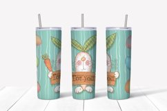 Happy Easter Png. Easter sublimation design. Skinny tumbler Product Image 3