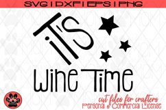 It's Wine Time | Wine Lover SVG Cut File Product Image 2