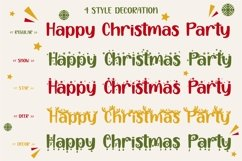 Happy Christmas Party - Xmas Font Product Image 6