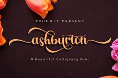 Ashburton | A Calligraphy Font Product Image 1