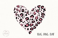 Heart With Leopard Texture Product Image 3