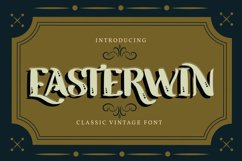 Easterwin   Classic Vintage Font Product Image 1
