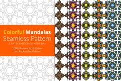 Colorful Mandalas Seamless Pattern Pack Product Image 1